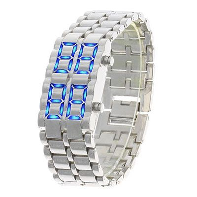 Iron Samurai - LAVA Inspired Blue LED Watch for Man