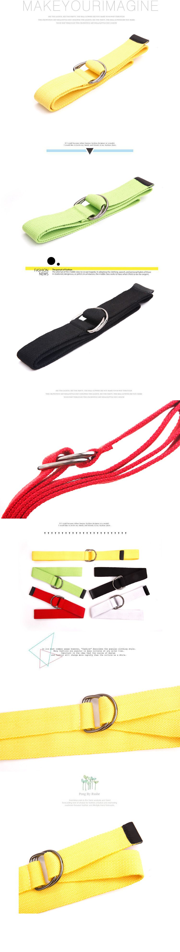 New Arrival Fashion Style Canvas Belt For Boy/Men-Red(Lenght 110CM)