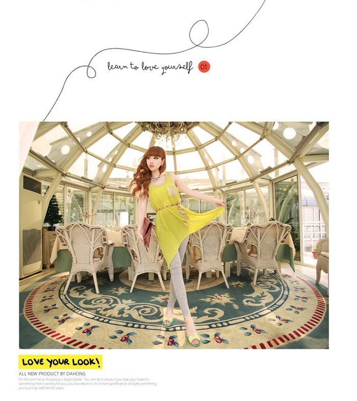 Asymmetric Hem Design Golden Pocket Jumper Skirt