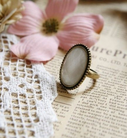 Western Retro Style Simple Oval Shape Finger Ring