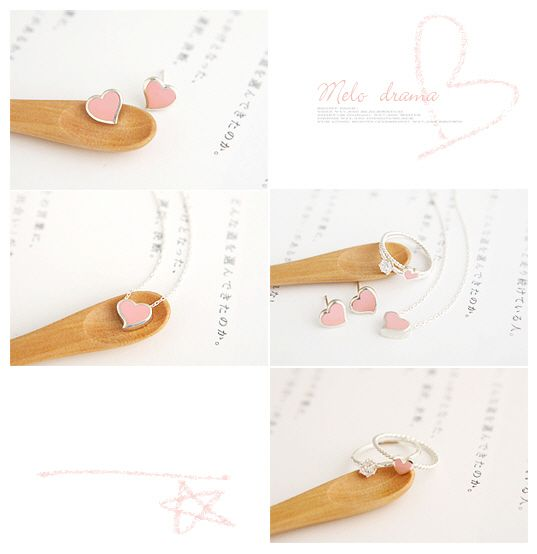 Heart Shape Baking Varnish Necklace