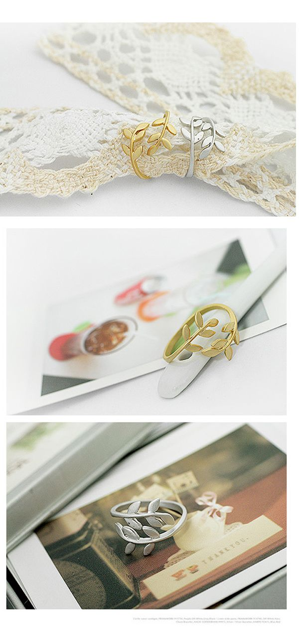 Leaf Design Rings