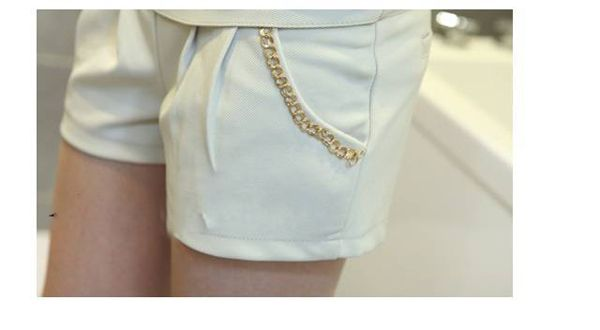 New Arrival Fashion and Casual Style Corean Chain Decorated Pants