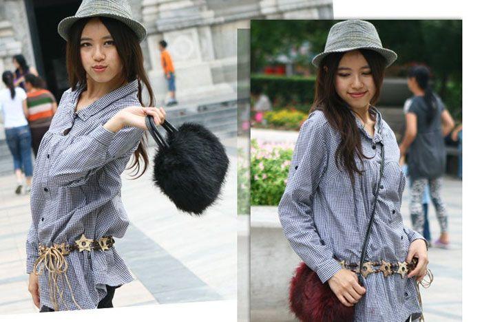 Artificial Furry Handbag