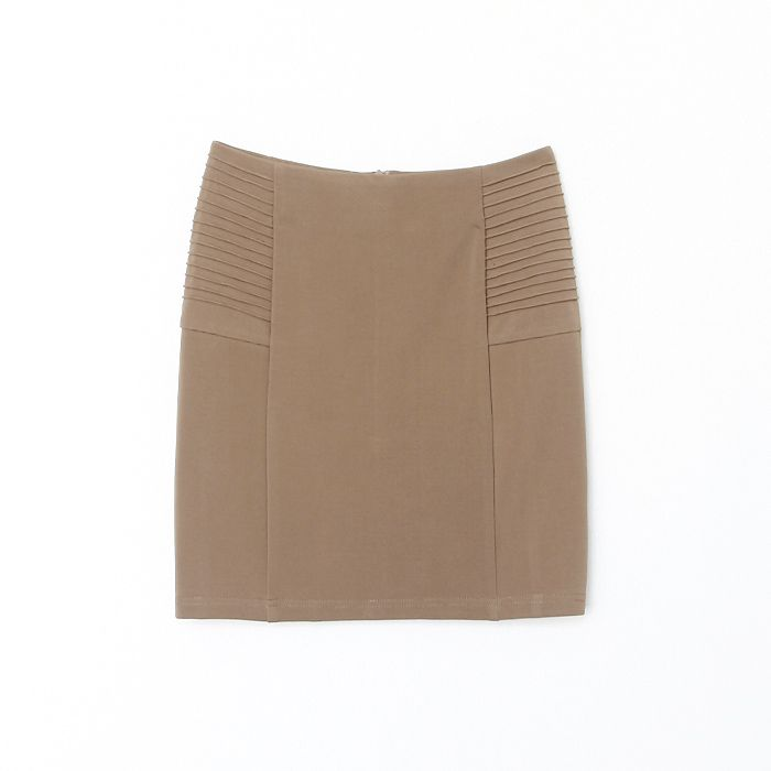 Simplicity Mix Match Solid Color Ruffles Apricot Ottoman Mini Skirt For Women