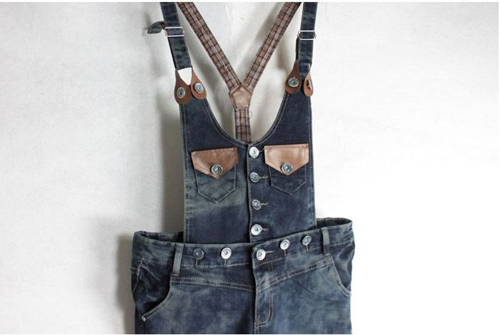 Gorgeous and Slimming Double Cute Pockets Sleeveless Denim Jumpsuit For Women