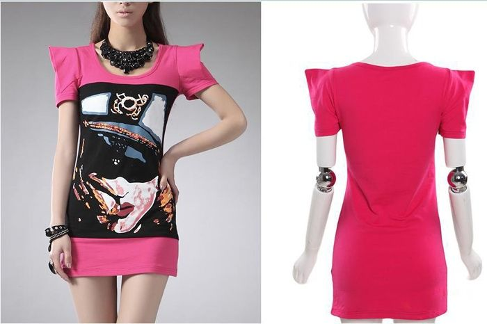 Fashion and Slimming Short Sleeves Fitted Dress For Women