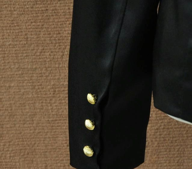 Fashionable OL Double-Breasted Long Sleeves Black Blazers For Women