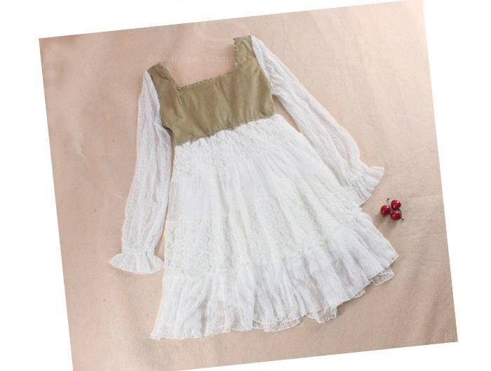 Fashion Square Neck and Long Sleeves Dress For Women
