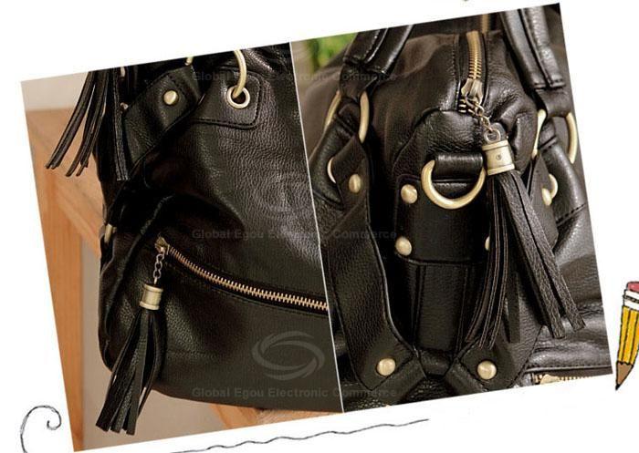 New Arrival Rivet Embellished Black Big Bag For Women