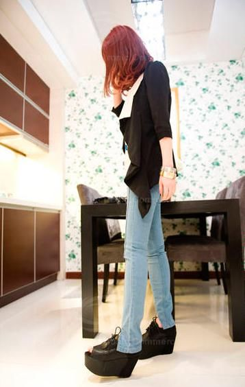 Casual Loose-Fitting Colormatching Three Quarter Sleeves Chiffon Blouse For Women