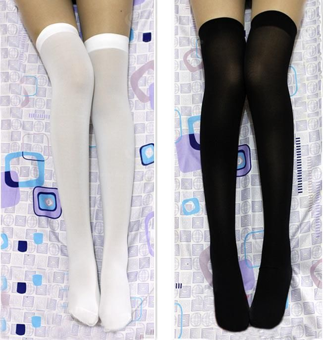 Slimming Solid Color Stocking For Women