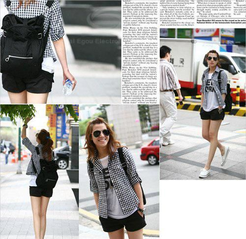 Street Style Stylish Buckle Embellished Multi Way Black Canvas Backpack For Women