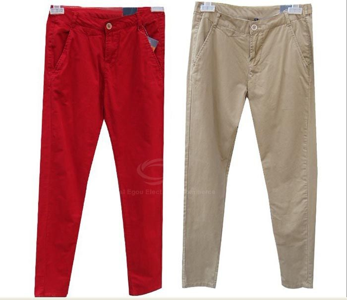 Stylish Solid Color Slimming Casual Trousers For Women