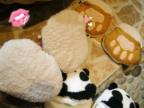 New Arrival Cute Cartoon Animal Shapes Warmly Plush Slippers For Girls