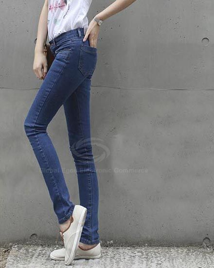 Women's Jeans Pants With Stretchy Narrow Feet Design