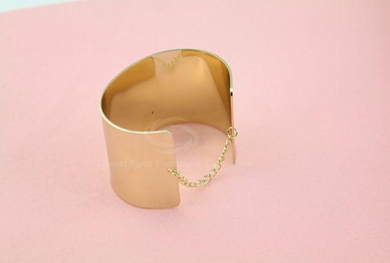 Punk Wide Alloy Chain Bracelet