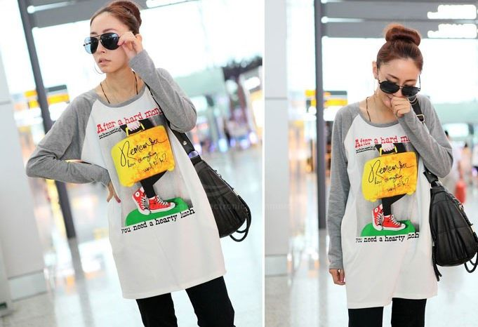 Fall Casual Style Traveller Print Long Sleeve Sweater For Women