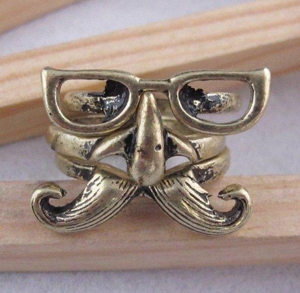 Glasses Mustache Nose Shapes Finger Ring