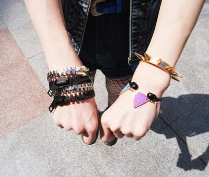 Stylish Colorful Many Triangle Shape Pendants Women's Bracelet
