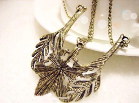 Korea Style and Stylish Latin Cross Engraved Bedge Shape Pendant Necklace