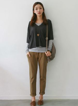 Vintage Casual Loose Fitting Solid Color Women's Harem Pants