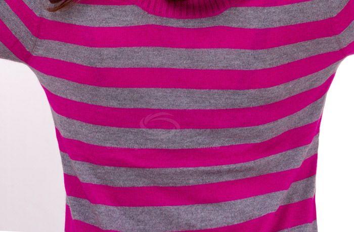 New Arrival Half Sleeve Turtleneck Stripes Sweater For Women