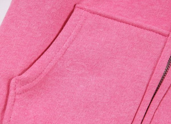 Stylish Hooded Zipper Design Thicken Long Sleeves Letter Printed Woolen Yarn Women's Hoodies