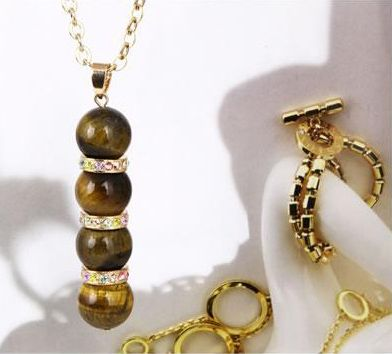 Korea Style and Stylish Rhinestone Inlaid Ball Pendant Tassels Necklace For Women