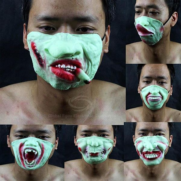 Masquerade Halloween Scarey Noctilucent Low-half Face Mask of High Quality