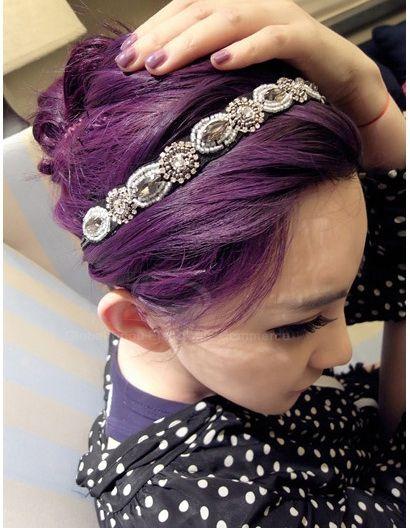 Fashion Gorgeous Style Rhinestone Embellished Vintage Hair Band For Women