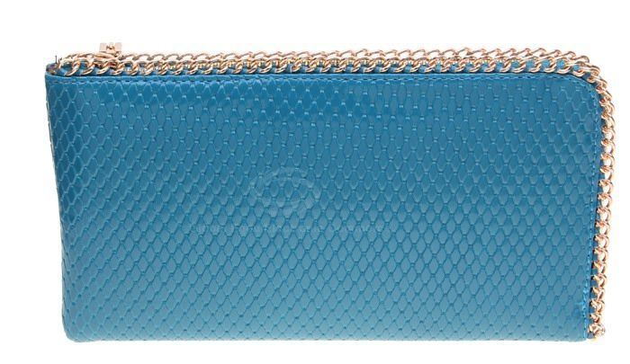 Weaving and Metal Design Women's Clutch bag