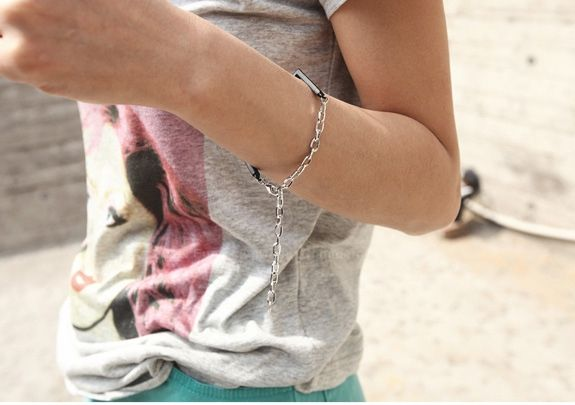 Fashion and Stylish  Square Shape Chain Embellished Bracelet For Women