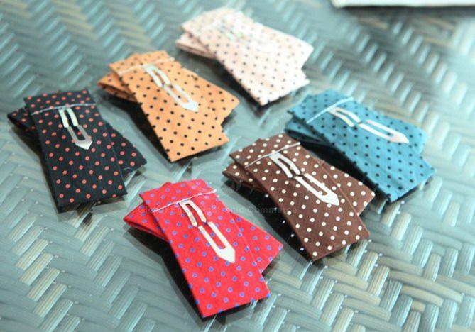 Exquisite Korea Style Dot Print Irregular Bowknot Embellished Hairpin For Women