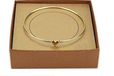 Sweet Simple Style Heart Shape Gilding Bracelet For Women