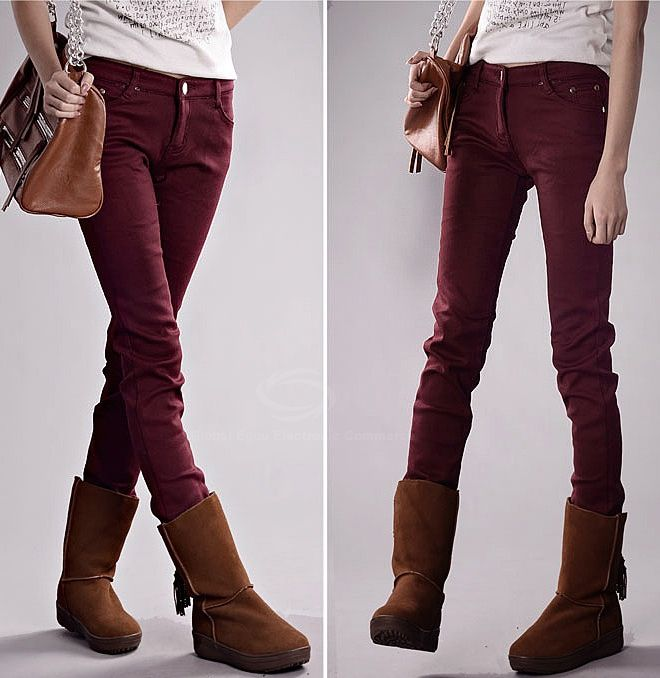 Stylish Slimming Fit Thick Fleece Women's Skinny Pants