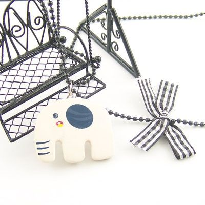 Cute Style Concise Design Elephant Shape Decorated Sweater Chain