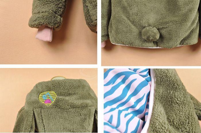 Cute Thicken Long Sleeve Khaki Hooded Women's Coat