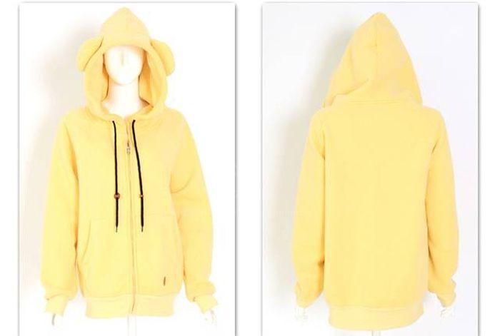 Casual Fleece and Zipper Hooded Long Sleeve Women's Hoodies