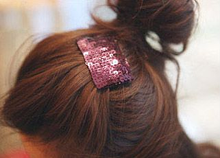 Simple Style 12PCS Rectangle Paillette Inlaid Hairpins For Women