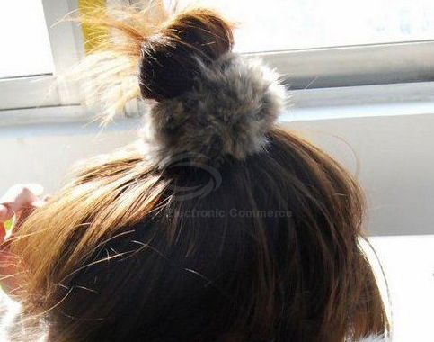 Pair of Fashion and Casual Fluffy Hair Band For Women