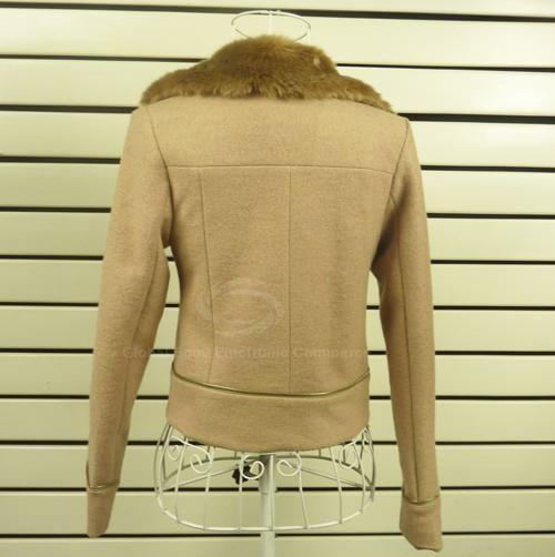Slim Fit Imitated Rabbit Fur Turndown Collar Women's Winter Jackets