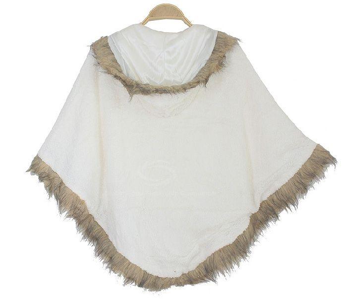 Sweet Plush Zipper Hooded Women's Cloak