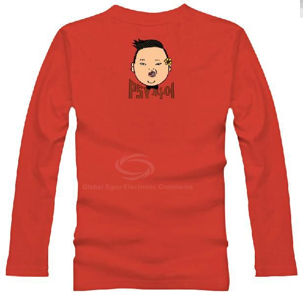 Stylish Gangnam Style Uncle PSY Horse Dance Long Sleeve Cotton T-Shirt For Women