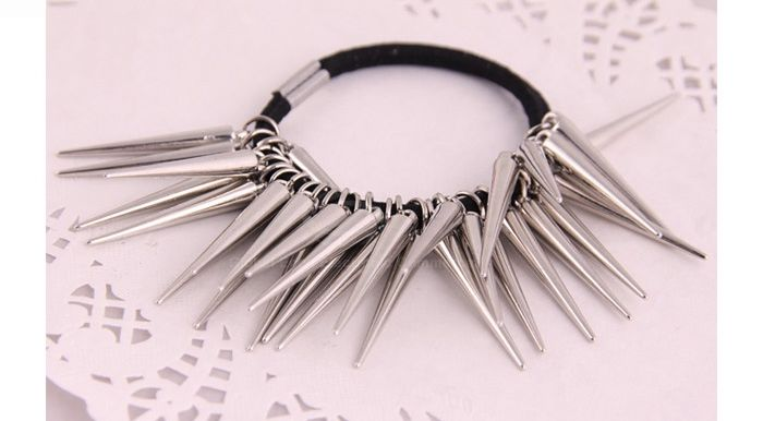 Punk Style Spike Embellished Hair Band For Women