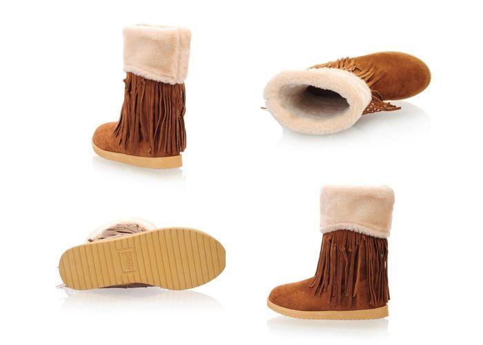 Sweet Tassels and Round Head Design Women's Short Boots