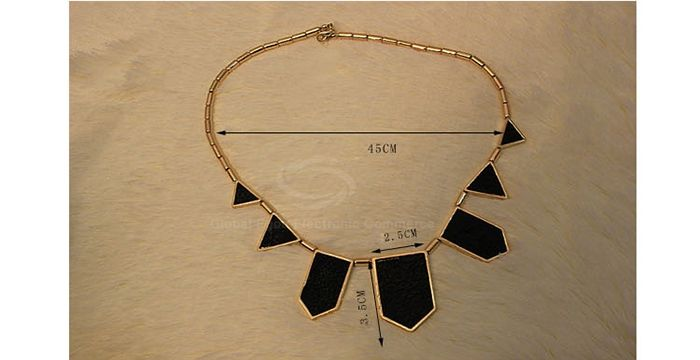 Stylish Punk Style Polygon Pendant Women's Necklace