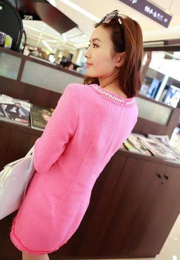 Gorgeous Scoop Neck Faux Pearl Short Sleeves Elegant Cotton Blend Women's Dress