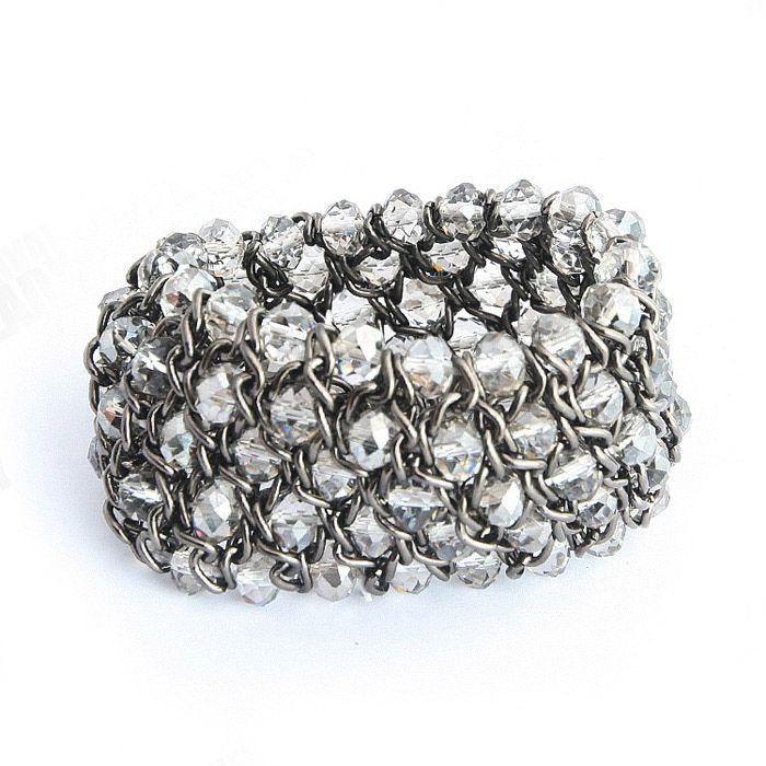 Elegant Stylish Gallant Style Handmade Elastic Design Rhinestone Bracelet For Women