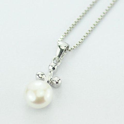 Elegant Sweet Style Pearl Inlaid Cross Design Pendant